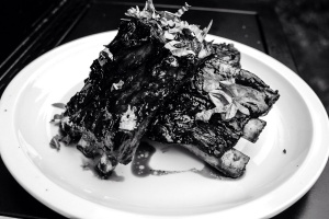 Grilled Lamb Ribs with Mint